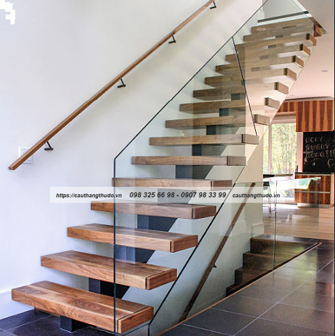 New Glass Railing Wood Stair Design